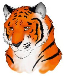 Tiger for Vergie by NicholBarnes