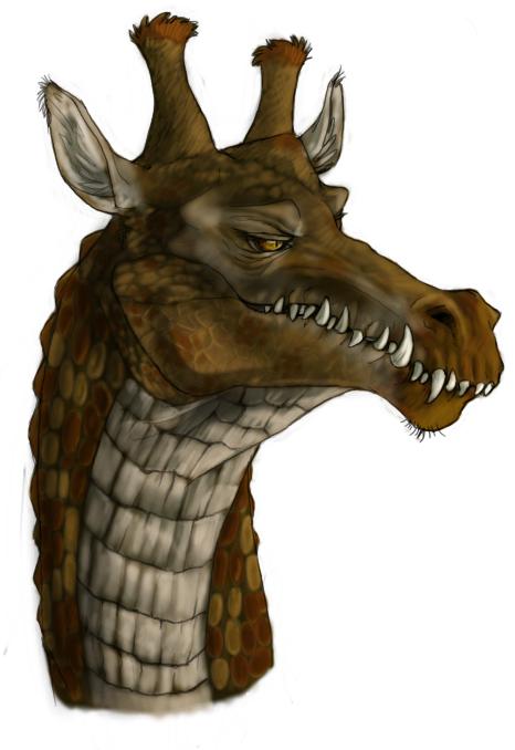 Crocodile x Giraffe by RogueLiger