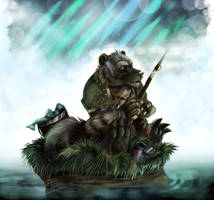 Wolvar Fishing by RogueLiger