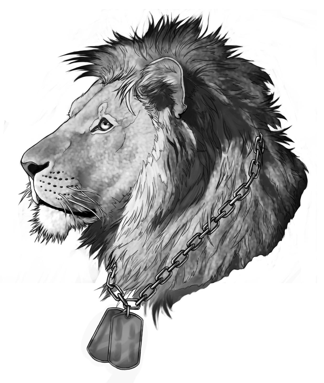 Lion tattoo design by Rogue-Lgr