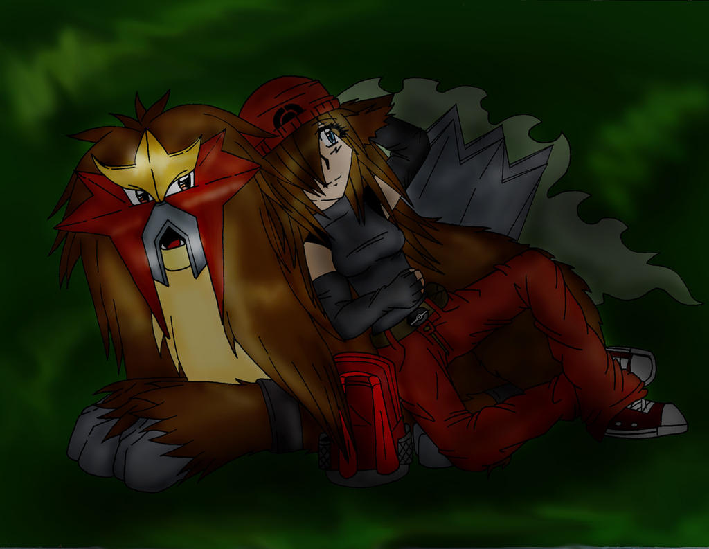 Nice Night Entei by LycanthropAsh
