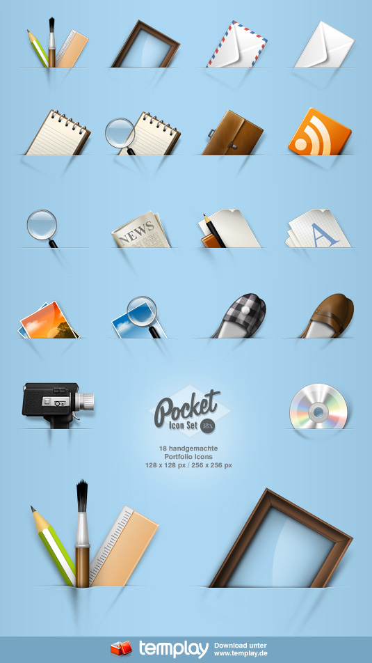 Pocket Icon Set by templay-team