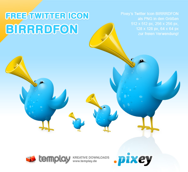 Twitter Icon BIRRRDFON by templay-team