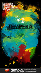 Tempera Photoshop Brushes