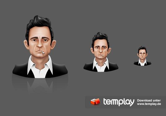 Johnny Cash Fan Icon