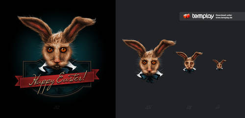 Free Rabbit - Happy Easter by templay-team