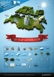 3d Map Generator - Photoshop Actions