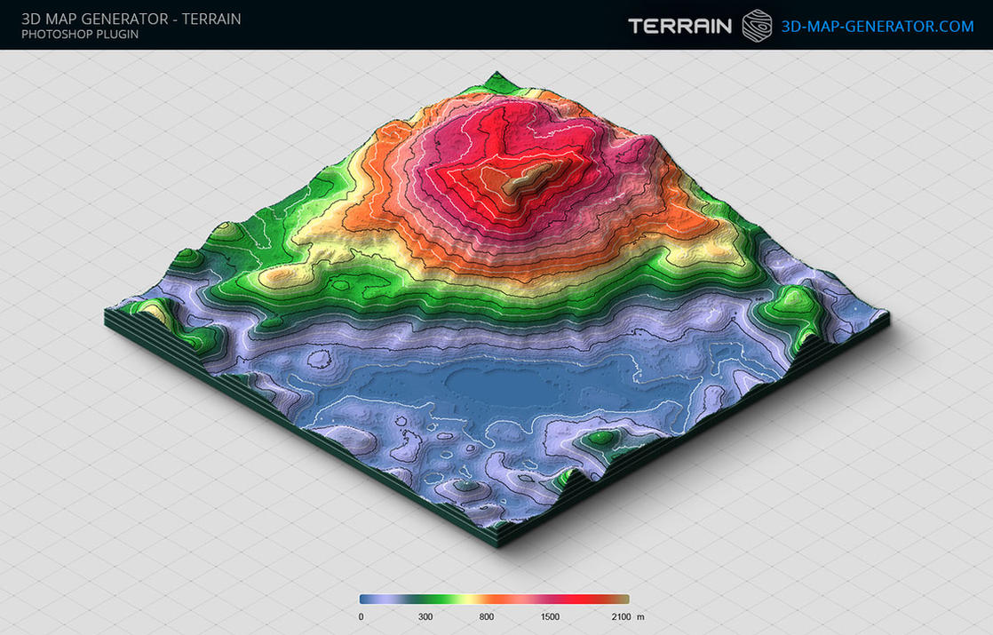 D Map Generator Terrain Height Color Map By Templayteam On - Color map generator