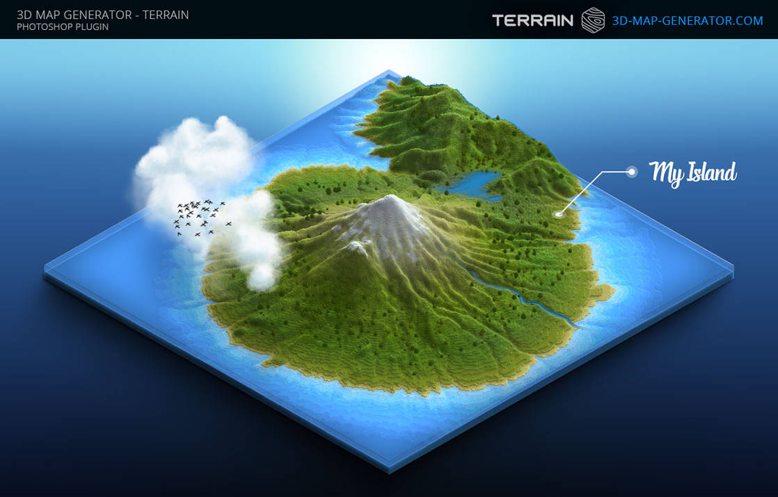 3D Map Generator - Terrain - Island map by templay-team on DeviantArt