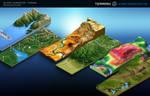 3D Map Generator - Terrain - Example Maps