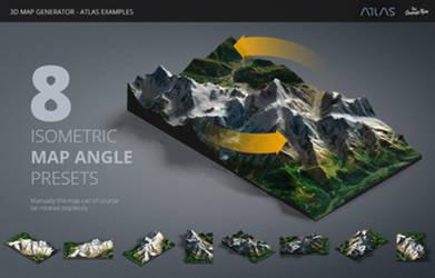 8 Isometric Angles - 3D Map Generator - Atlas