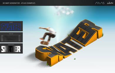 Skater - 3D Map Generator - Atlas - Photoshop Plug