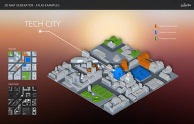 City - 3D Map Generator - Atlas - Photoshop Plugin
