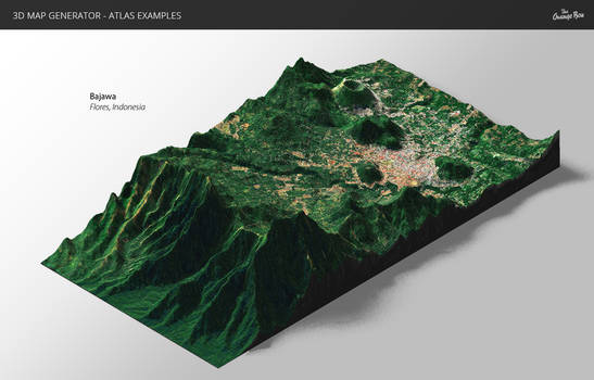 Relief-3D Map Generator - Atlas for Photoshop