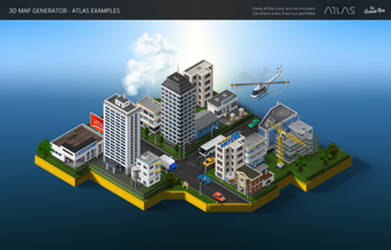 Icon City -3D Map Generator - Atlas for Photoshop