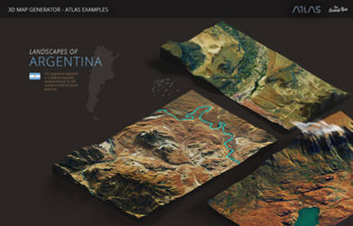 Argentina-3D Map Generator - Atlas for Photoshop