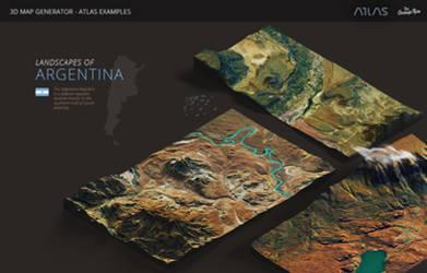 Argentina-3D Map Generator - Atlas for Photoshop