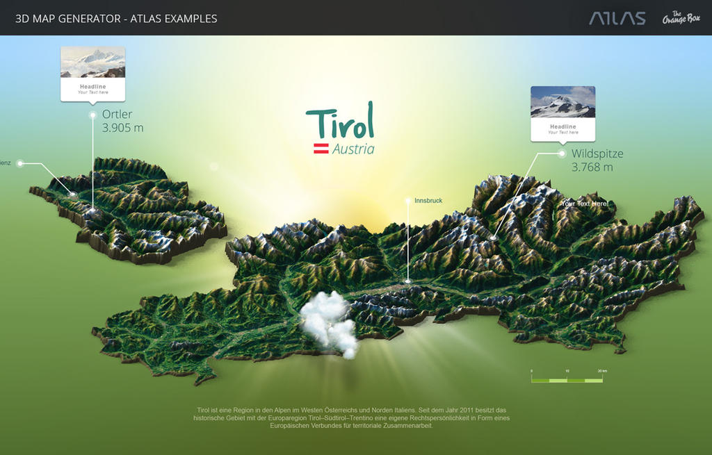 Tyrol-3D Map Generator - Atlas for Photoshop by templay-team