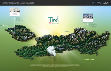 Tyrol-3D Map Generator - Atlas for Photoshop