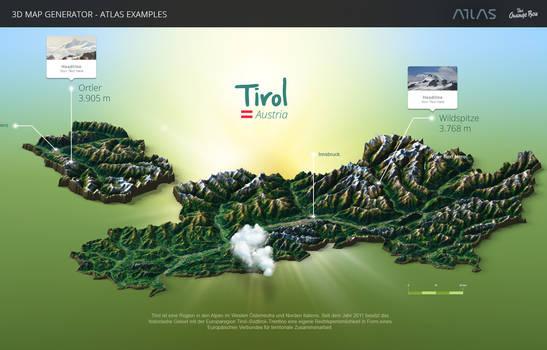 Tyrol-3D Map Generator - Atlas for Photoshop