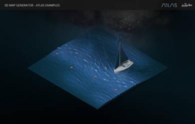 Dark Waters-3D Map Generator - Atlas for Photoshop