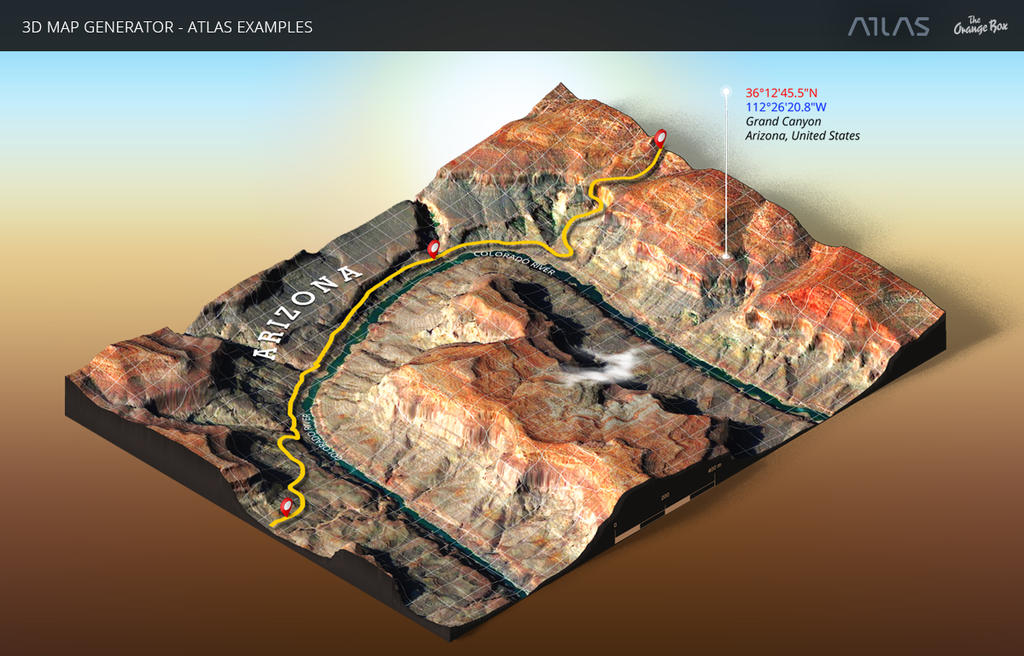 Grand Canyon-3D Map Generator-Atlas for Photoshop by templay-team on