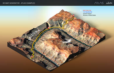 Grand Canyon-3D Map Generator-Atlas for Photoshop