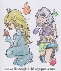 Rosalina and Cursed princess by Harmonie--Rosalina