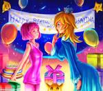 Stephanie come to Rosalina's birthday