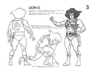 ThunderCats Lion-O character sheet 1 by Curious4ever