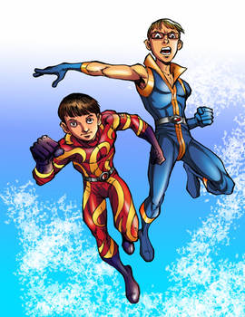 Super Cousins from Earth Shock