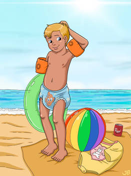 Jonathon at the beach 2 by Chica