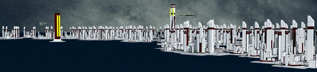 An'Kunik City- Kan'Teanus- Night by djomally