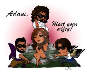 Presenting Isha to Adam ... Salt Bae Style