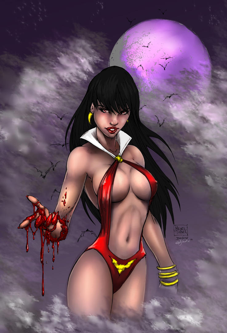 Vampirella Inks By Devgear- Colour by Edjnr