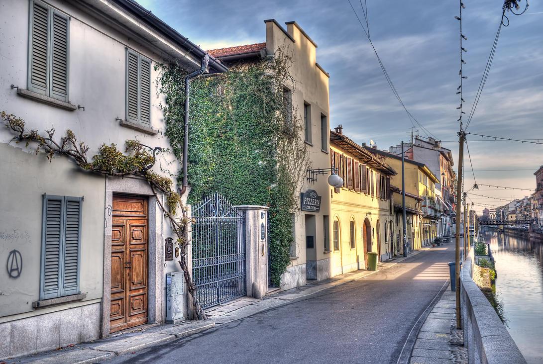 Milano italy il naviglio grande by zefirino on deviantart for Il naviglio grande ristorante