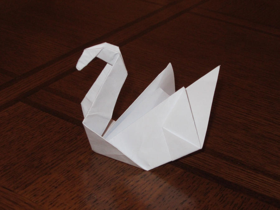 Origami swan by notsahar on deviantart for Origami swan folding instructions