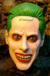 hand sculpted/painted joker mask leto