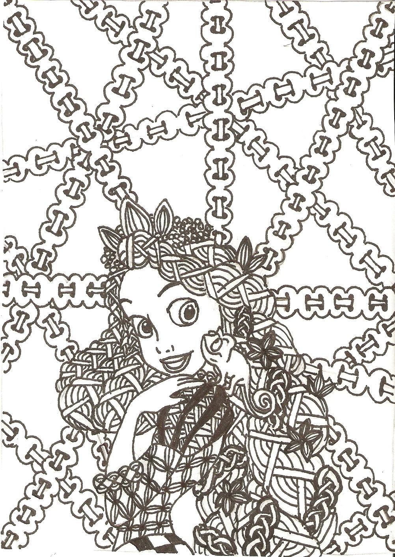Zentangled Princesses Rapunzel By Crystal Of Ix On DeviantArt