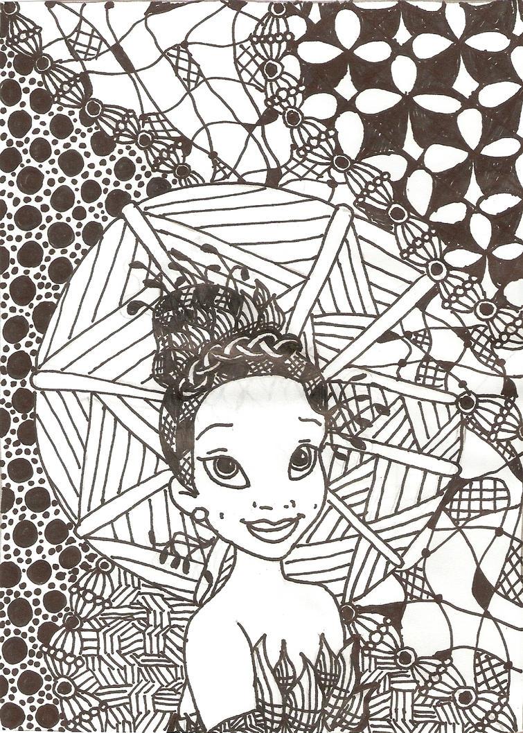 Zentangled Princesses Tiana by crystalofix on DeviantArt