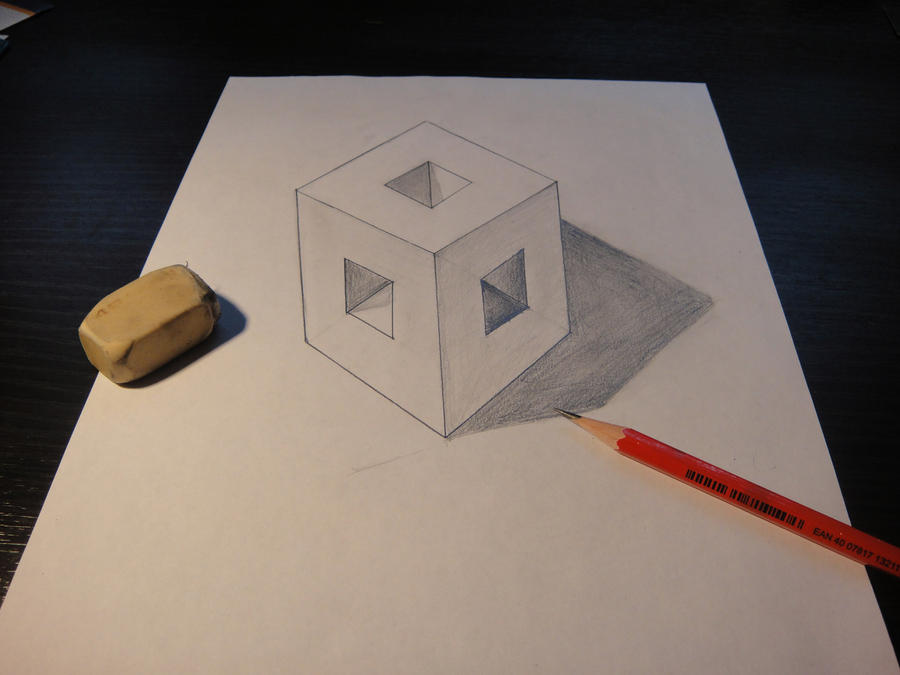 how to draw leves in 3d