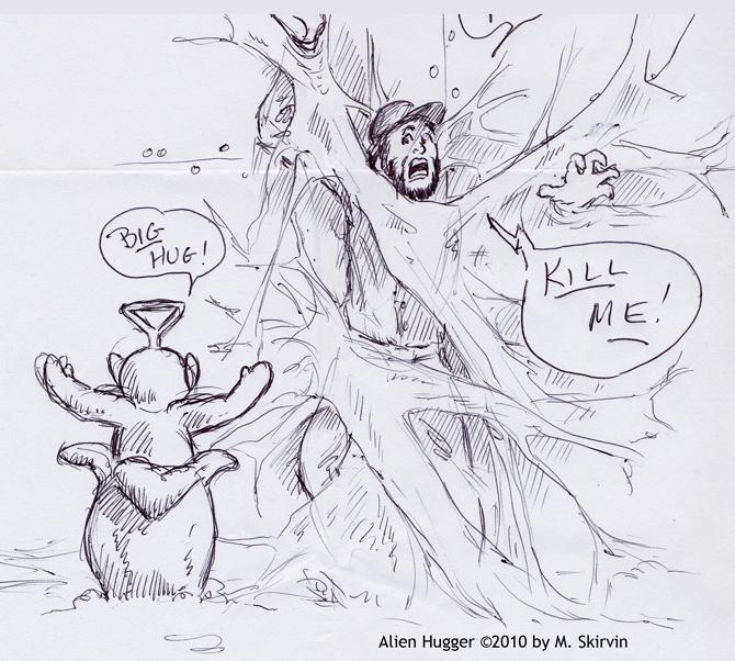 Alien Hugger by M-Skirvin