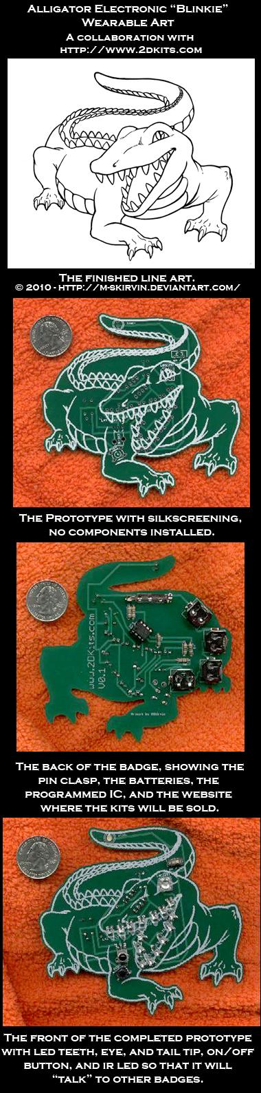 LED Alligator Wearable Circuit