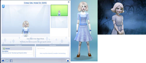 China Girl from Oz: The Great and Powerful (Sims4) by Alberta360