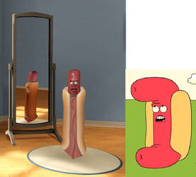 Hot Dog Person from Uncle Grandpa by Alberta360