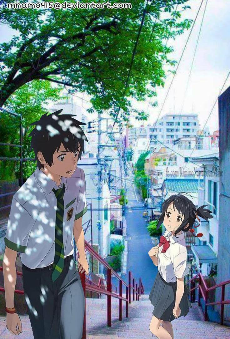 Taki and Mitsuha [In Real World] by mnamo415