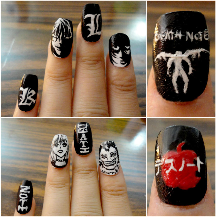 Death note nail art. by smamz on DeviantArt