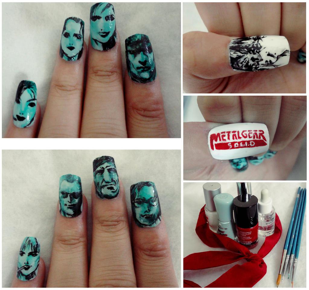 Metal Gear Solid Nail Art by smamz on DeviantArt