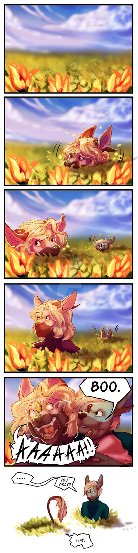Flower Chasing - Guest Comic by AraPersonica