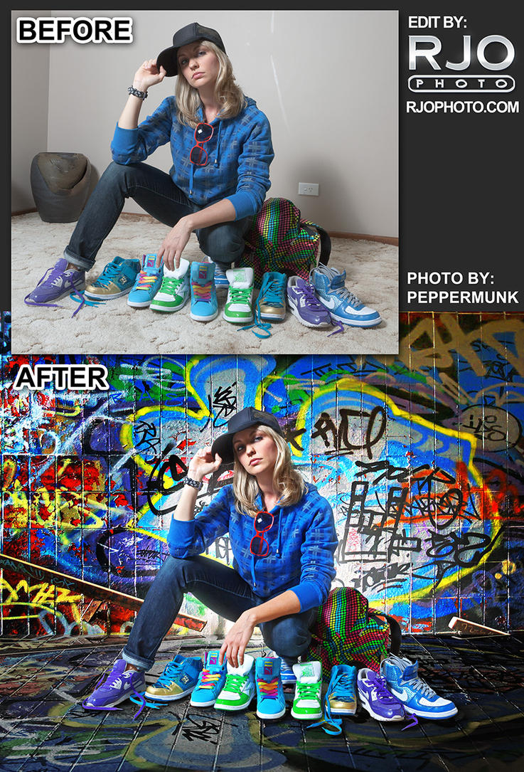 Peppermunk before-after by rekit